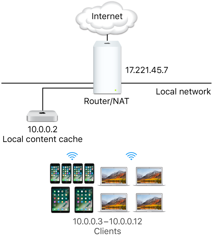 A single subnet caching server.
