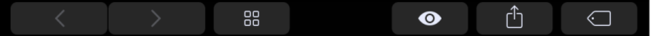 Touch Bar dengan butang tertentu untuk Finder, seperti butang Kongsi.