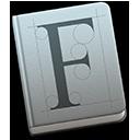 Symbool van Lettertypecatalogus