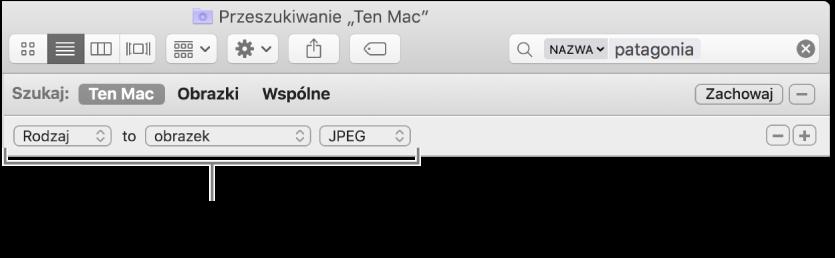 Okno Findera zpolami pozwalającymi podać kryteria wyszukiwania.