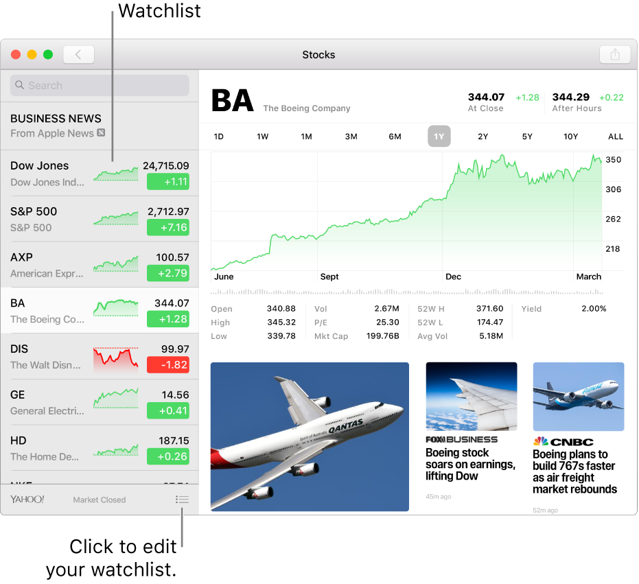 View Stocks On Mac Apple Support