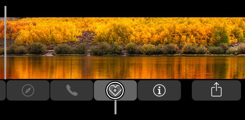 放大的触控栏横贯屏幕的底部;按钮被选定时,其上方的圆圈将发生更改。