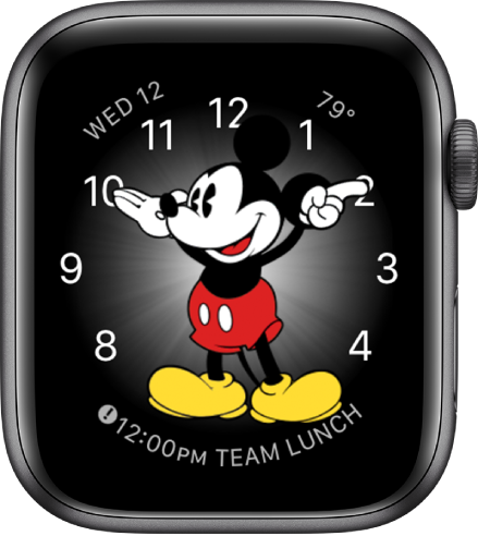 The Mickey Mouse watch face where you can add many complications.