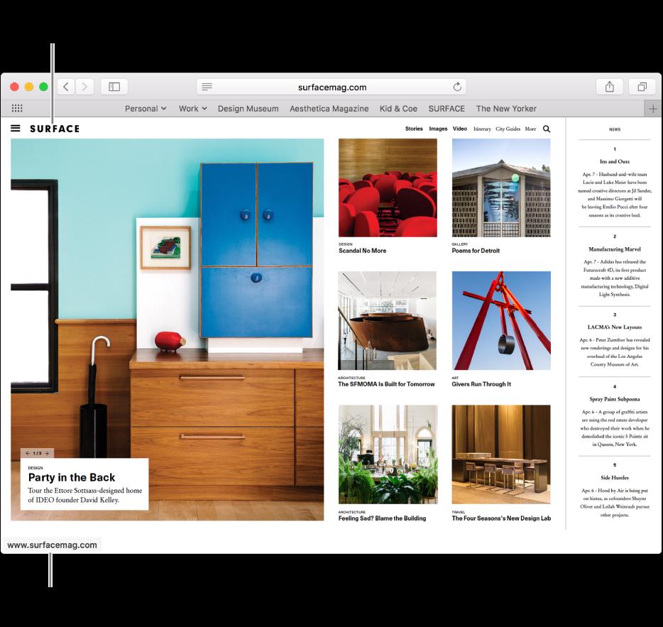 personnaliser la fenêtre de votre navigateur safari sur mac