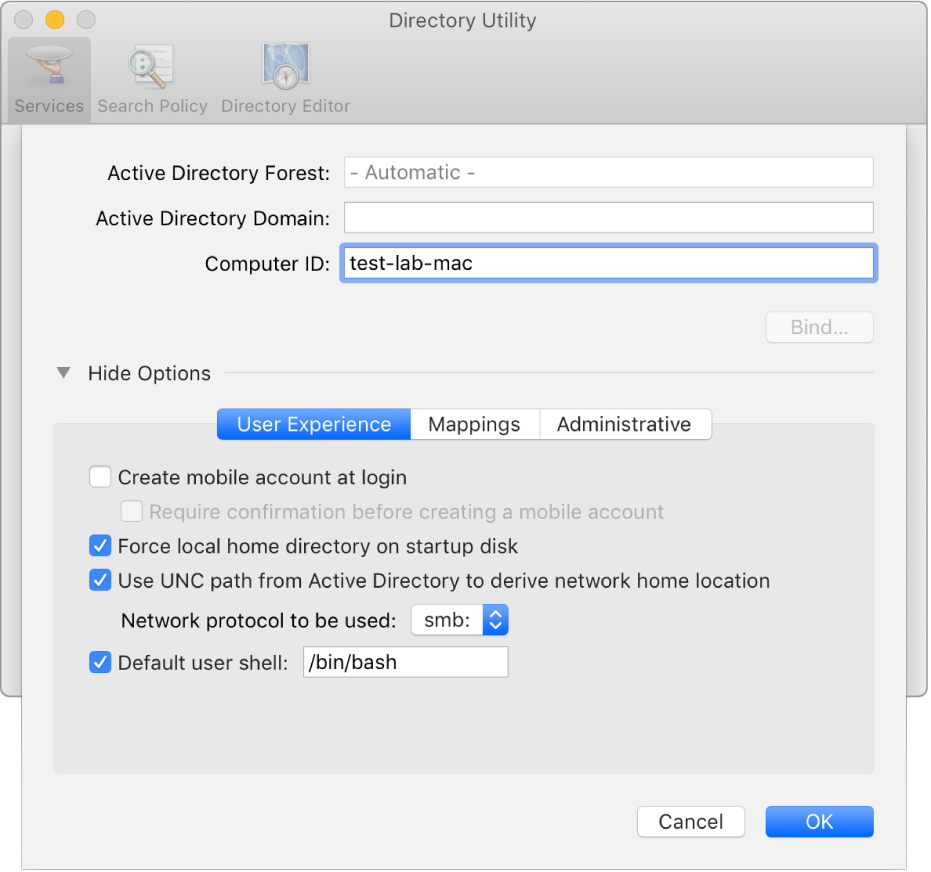 Welcome To Directory Utility On Mac