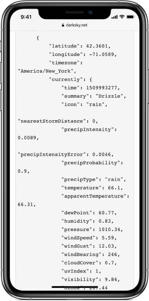 Példa JSON-adatokra.
