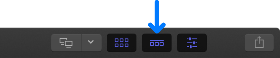 The Timeline button in the toolbar