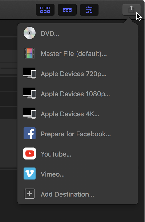 Share Projects From Final Cut Pro Apple Support