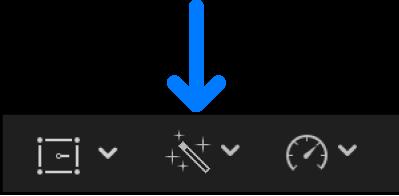 The Enhancements pop-up menu