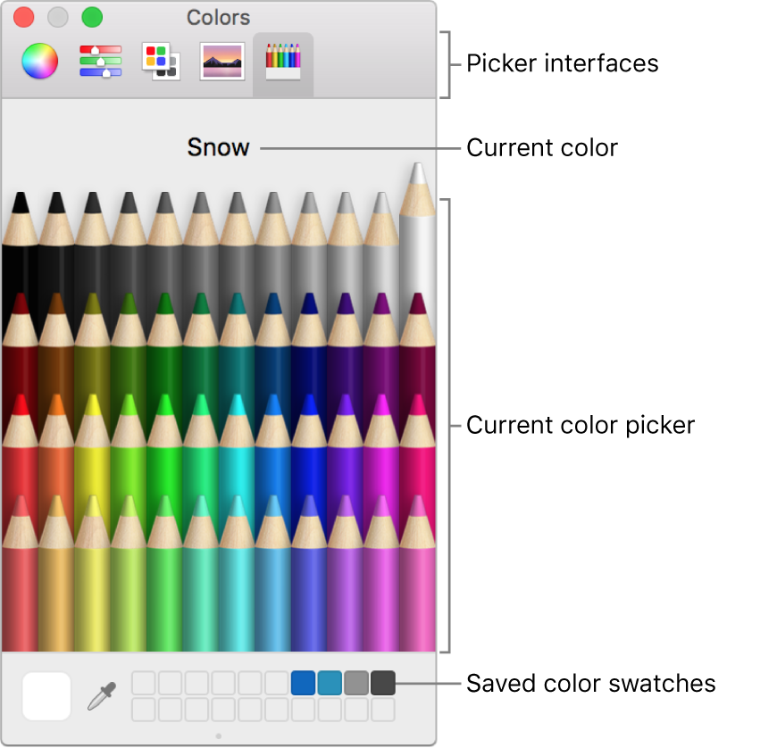 The macOS Colors window