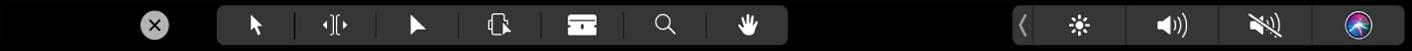 TouchBar affichant les outils d'édition dans la timeline