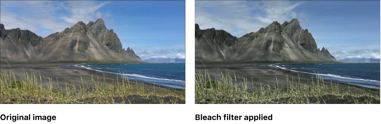 """Canvas mit dem Effekt des Filters """"Bleichen"""""""