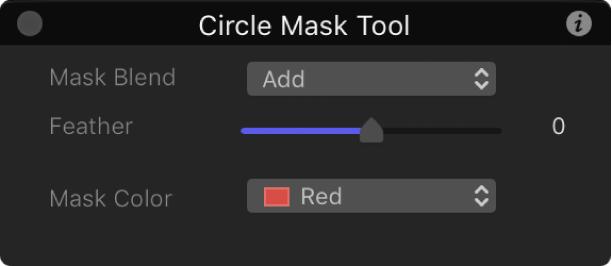 Kreismaske-Werkzeug in der Schwebepalette