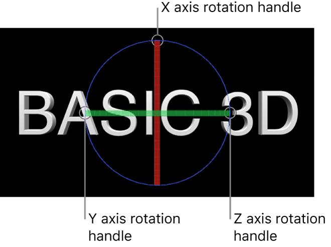 Canvas mit 3D-Aktivpunkten auf 3D-Textobjekt