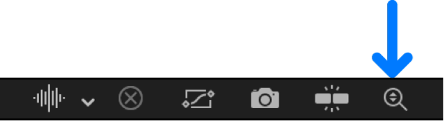 """Taste """"Automatisch vertikal skalieren"""" im Keyframe-Editor"""