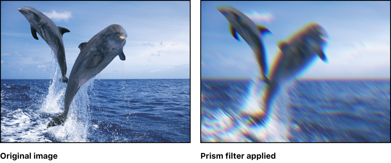 Canvas showing effect of Prism filter