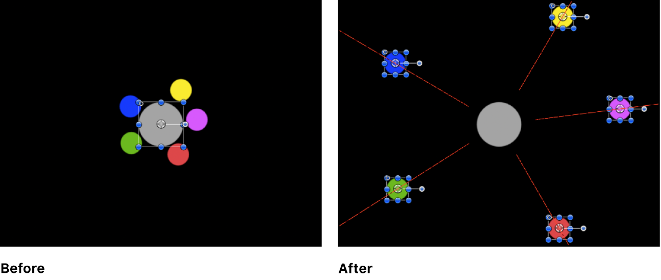 Canvas showing example of Repel behavior