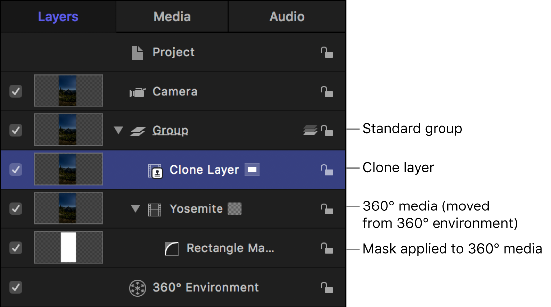 New Clone Layer in the Layers list