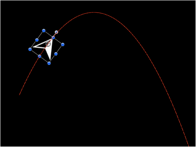 Canvas showing example of Gravity behavior