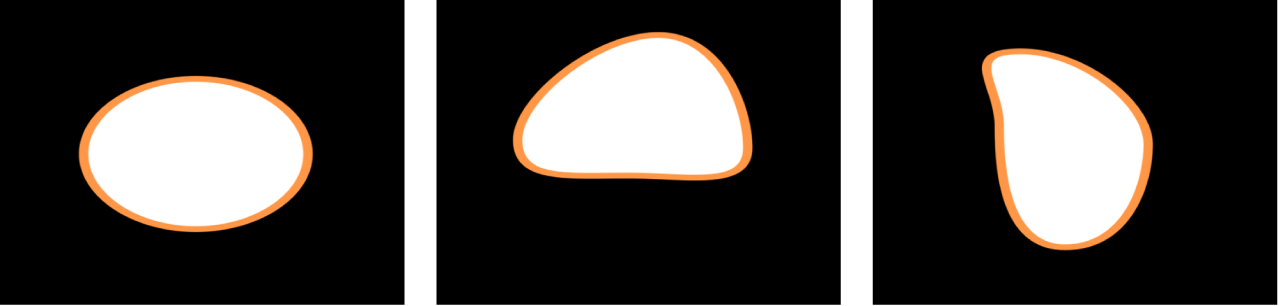 Canvas showing shape with Wriggle Shape behavior applied