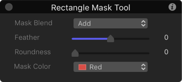 Rectangle Mask Tool HUD