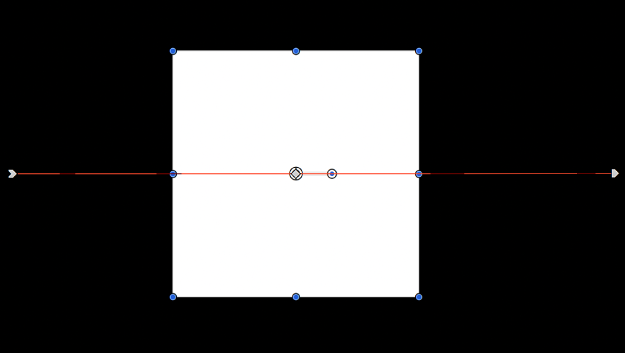Canvas showing object with motion path