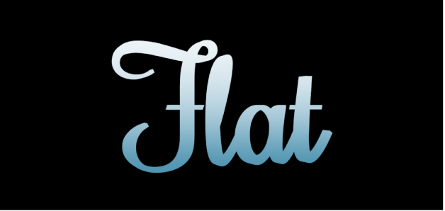3D text in the canvas with Gradient flat substance applied