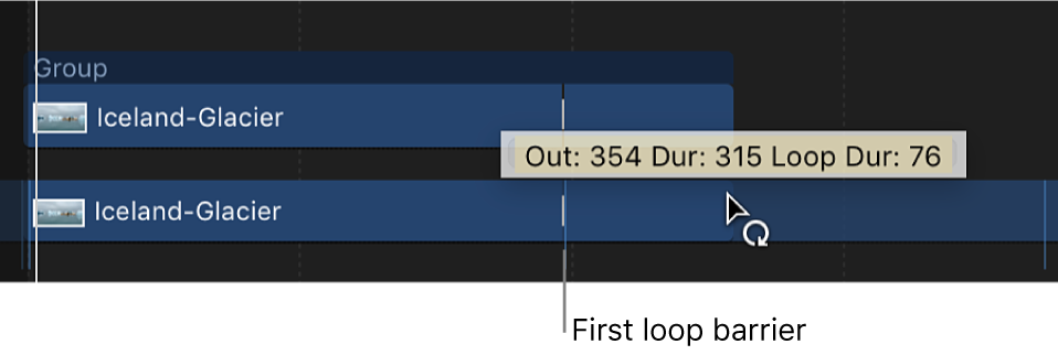 Loop pointer and tooltip in the Timeline