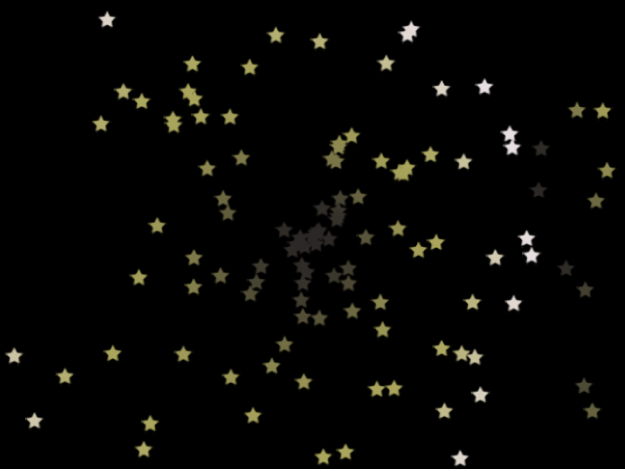 Canvas showing particle system with Show Particle As set to Image