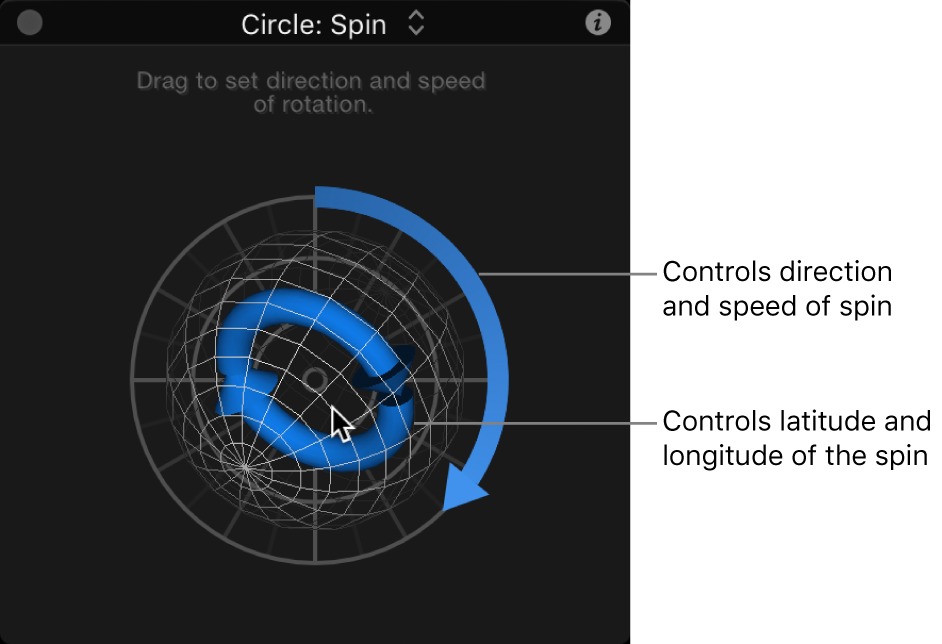 HUD showing Spin control