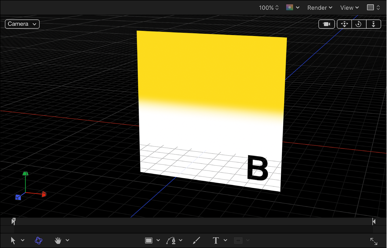Canvas showing 3D grid
