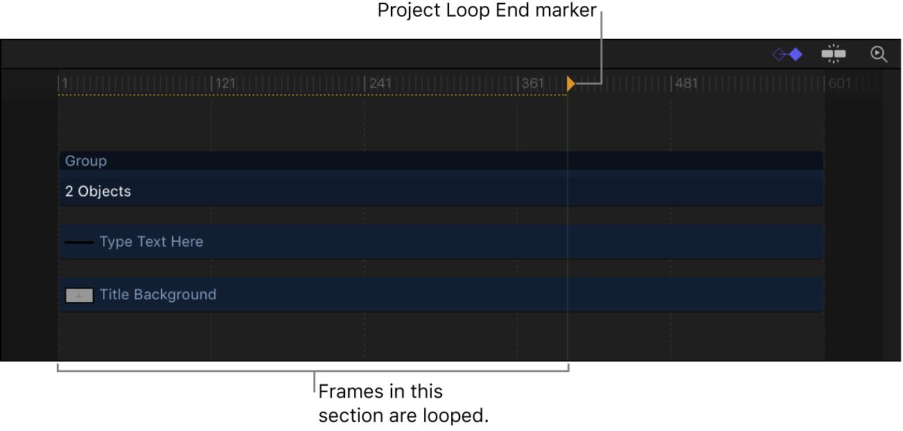 Project Loop End marker in Timeline