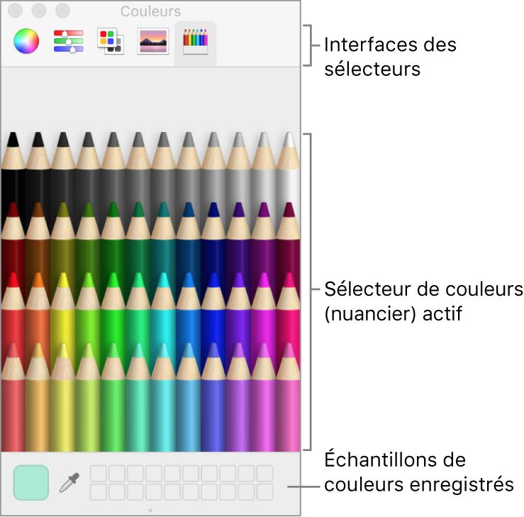 Fenêtre de couleurs