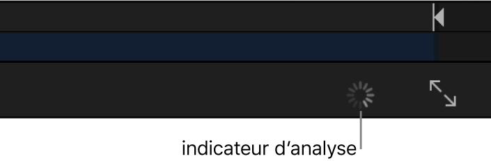 Barre d'outils du canevas affichant l'indicateur d'analyse Flux optique