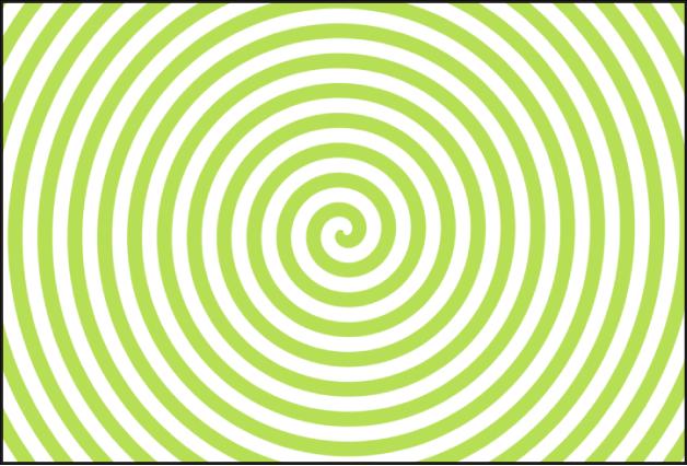Canevas affichant un générateur Spirales, avec le paramètre Type réglé sur Moderne