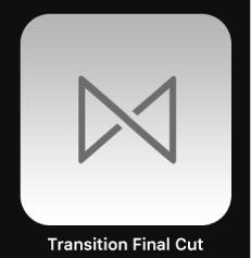 Icône de transition FinalCut dans le navigateur de projets