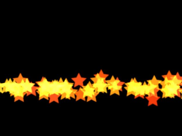 Canevas affichant un système de particules avec la forme définie sur Ligne