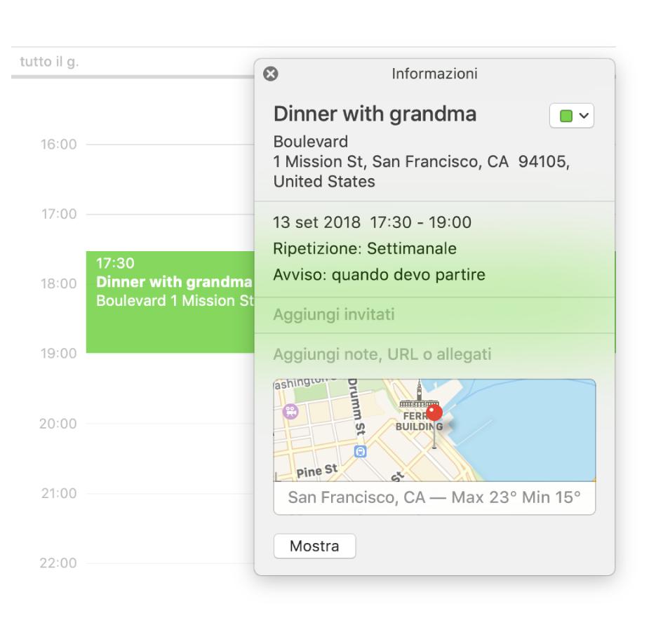 Pagina Calendario Settimanale.Calendario Sul Mac Ti Da Il Benvenuto Supporto Apple