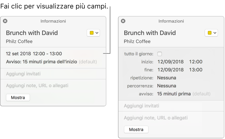creare un calendario con mac