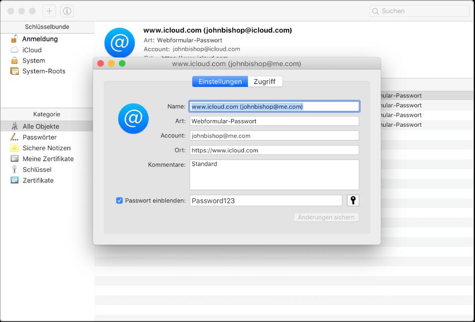Willkommen Bei Der Schlüsselbundverwaltung Auf Dem Mac Apple Support