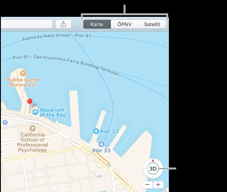 Karte Anzeigen.Anpassen Der Kartendarstellung In Der App Karten Auf Dem Mac