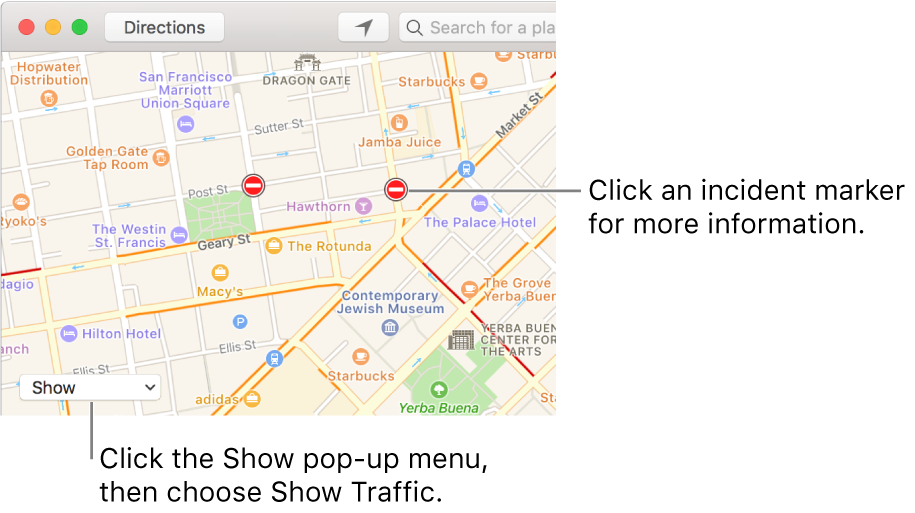 Show Traffic Conditions In Maps On Mac Apple Support