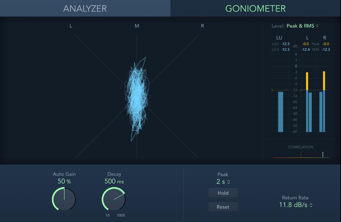 The MultiMeter Goniometer controls.