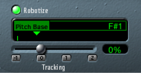 The Vocal Transformer Robotize controls.