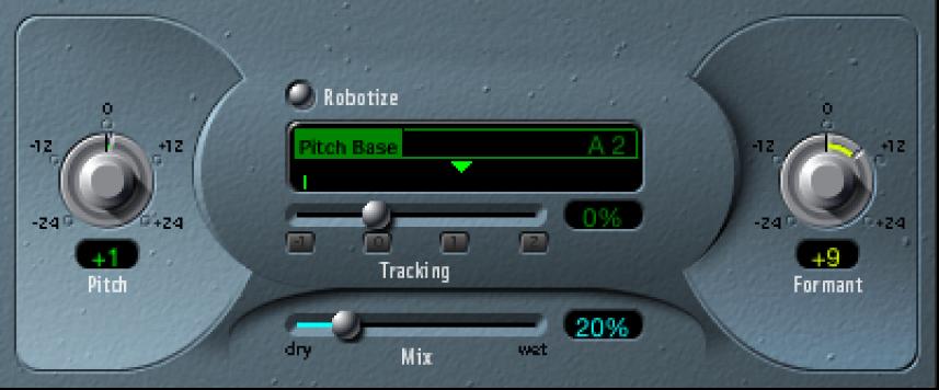 The Vocal Transformer window.