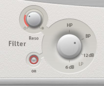 The Space Designer main filter controls.