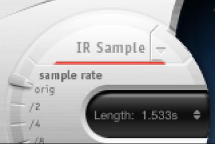 Space DesignerのIRSampleコントロール。
