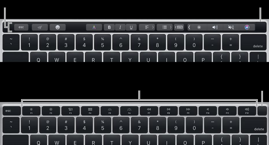 Touch ID ซึ่งอยู่ที่มุมขวาบนสุดของแป้นพิมพ์