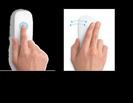 Bir web sayfasını büyütüp küçültmek ve tam ekran uygulamalar arasında geçiş yapmak için kullanılan örnek fare hareketleri.