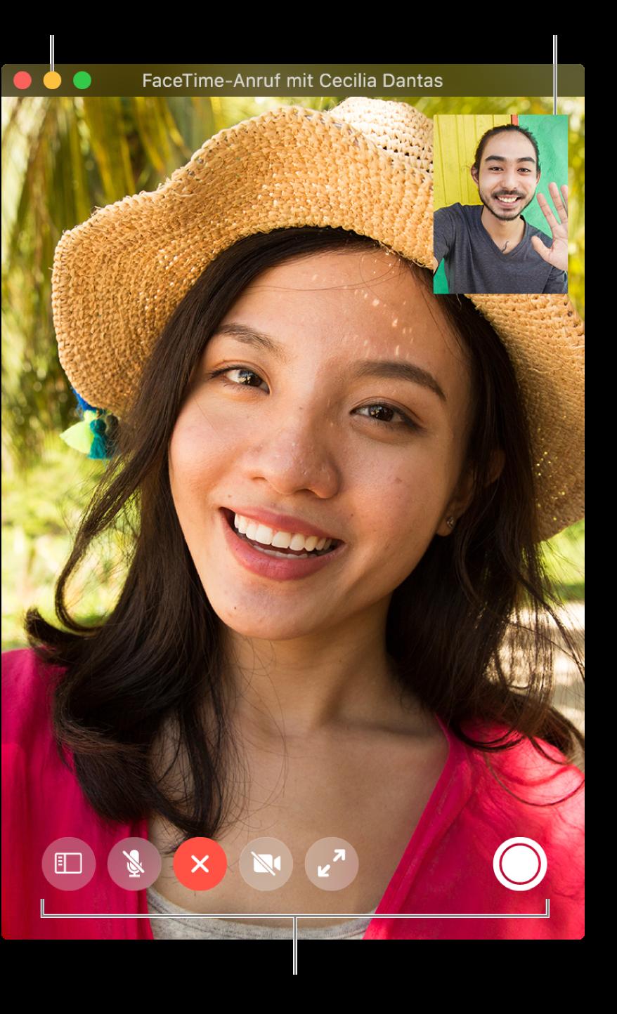 Andern Deiner Ansicht Eines Facetime Anrufs Auf Dem Mac Apple Support